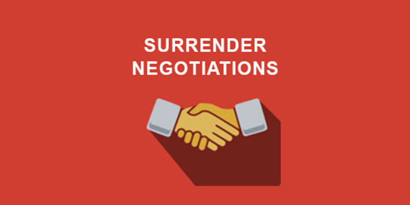 Surrender Negotiations